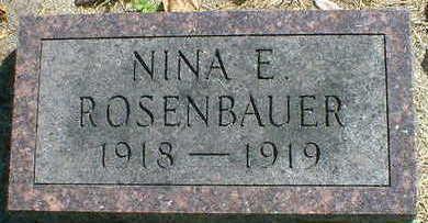 ROSENBAUER, NINA E. - Cerro Gordo County, Iowa | NINA E. ROSENBAUER