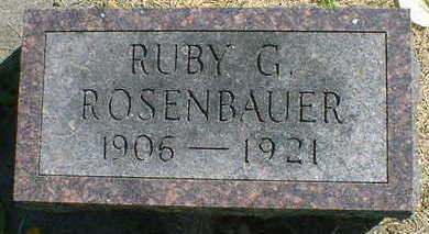 ROSENBAUER, RUBY G. - Cerro Gordo County, Iowa | RUBY G. ROSENBAUER