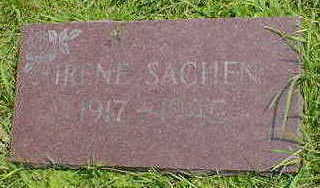 SACHEN, IRENE - Cerro Gordo County, Iowa   IRENE SACHEN