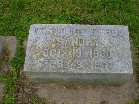 SANDRY, GERTRUDE ETHEL - Cerro Gordo County, Iowa   GERTRUDE ETHEL SANDRY