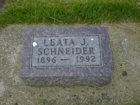SCHNEIDER, LEATA J. - Cerro Gordo County, Iowa | LEATA J. SCHNEIDER