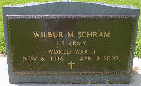 SCHRAM, WILBUR MITCHELL - Cerro Gordo County, Iowa   WILBUR MITCHELL SCHRAM