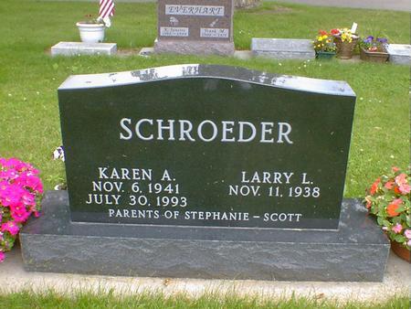 SCHROEDER, KAREN A. - Cerro Gordo County, Iowa   KAREN A. SCHROEDER