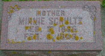 SCHULTZ, MINNIE - Cerro Gordo County, Iowa   MINNIE SCHULTZ