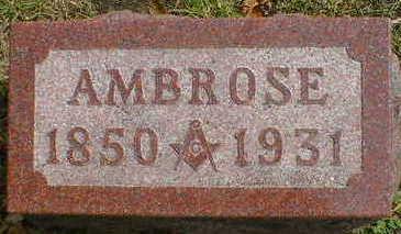 SHERMAN, AMBROSE - Cerro Gordo County, Iowa   AMBROSE SHERMAN
