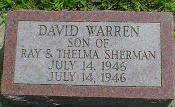 SHERMAN, DAVID WARREN - Cerro Gordo County, Iowa | DAVID WARREN SHERMAN