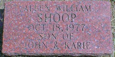 SHOOP, ALLEN WILLIAM - Cerro Gordo County, Iowa   ALLEN WILLIAM SHOOP