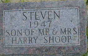 SHOOP, STEVEN - Cerro Gordo County, Iowa   STEVEN SHOOP