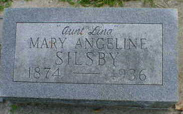 SILSBY, MARY ANGELINE - Cerro Gordo County, Iowa   MARY ANGELINE SILSBY