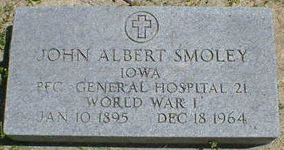 SMOLEY, JOHN ALBERT - Cerro Gordo County, Iowa | JOHN ALBERT SMOLEY