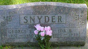 SNYDER, GEORGE E. - Cerro Gordo County, Iowa | GEORGE E. SNYDER