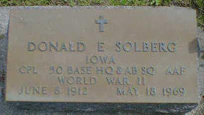 SOLBERG, DONALD E. - Cerro Gordo County, Iowa | DONALD E. SOLBERG