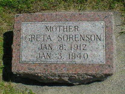 SORENSON, GRETA - Cerro Gordo County, Iowa   GRETA SORENSON