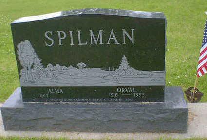 SPILMAN, ORVAL - Cerro Gordo County, Iowa   ORVAL SPILMAN