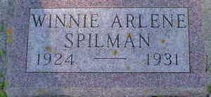 SPILMAN, WINNIE ARLENE - Cerro Gordo County, Iowa   WINNIE ARLENE SPILMAN