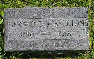 STEPLETON, GERALD D. - Cerro Gordo County, Iowa | GERALD D. STEPLETON