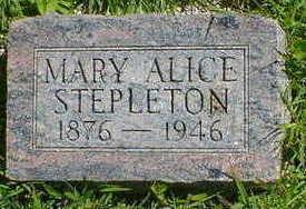 STEPLETON, MARY ALICE - Cerro Gordo County, Iowa | MARY ALICE STEPLETON