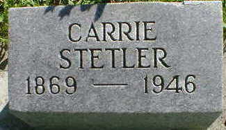 STETLER, CARRIE - Cerro Gordo County, Iowa   CARRIE STETLER