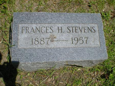 STEVENS, FRANCES H. - Cerro Gordo County, Iowa | FRANCES H. STEVENS