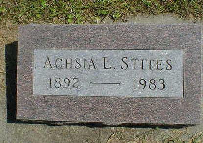 STITES, ACHSIA L. - Cerro Gordo County, Iowa   ACHSIA L. STITES