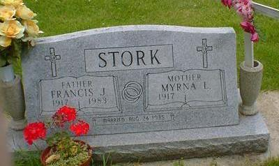 STORK, FRANCIS J. - Cerro Gordo County, Iowa   FRANCIS J. STORK
