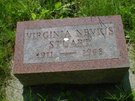 STUART, VIRGINIA NEVIUS - Cerro Gordo County, Iowa | VIRGINIA NEVIUS STUART
