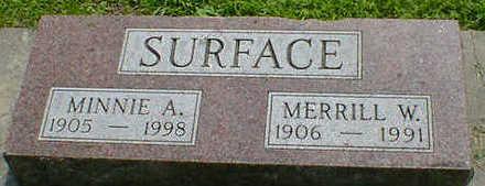 SURFACE, MERRILL W. - Cerro Gordo County, Iowa | MERRILL W. SURFACE