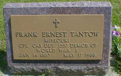 TANTOW, FRANK ERNEST - Cerro Gordo County, Iowa | FRANK ERNEST TANTOW