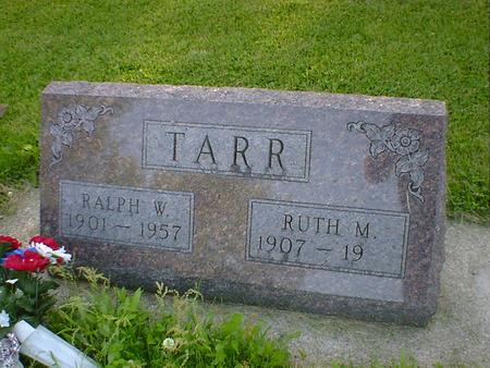 TARR, RALPH W. - Cerro Gordo County, Iowa | RALPH W. TARR