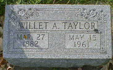 TAYLOR, WILLET A. - Cerro Gordo County, Iowa | WILLET A. TAYLOR