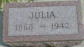 THOMPSON, JULIA - Cerro Gordo County, Iowa   JULIA THOMPSON