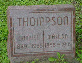 THOMPSON, SAMUEL - Cerro Gordo County, Iowa | SAMUEL THOMPSON