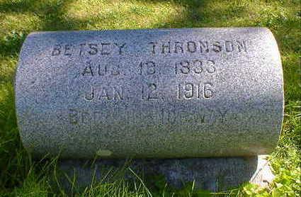 THRONSON, BETSEY - Cerro Gordo County, Iowa   BETSEY THRONSON