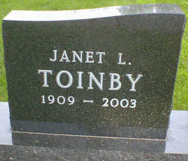 TOINBY, JANET L. (OLSON) - Cerro Gordo County, Iowa | JANET L. (OLSON) TOINBY