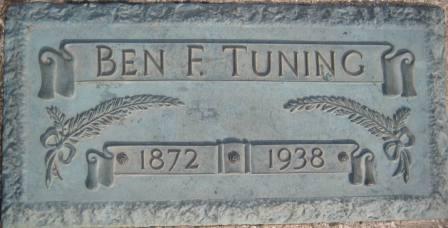 TUNING, BEN F. - Cerro Gordo County, Iowa   BEN F. TUNING