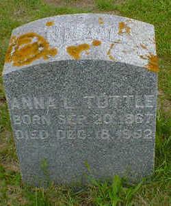 TUTTLE, ANNA L. - Cerro Gordo County, Iowa   ANNA L. TUTTLE