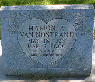 VAN NOSTRAND, MARION A. - Cerro Gordo County, Iowa | MARION A. VAN NOSTRAND