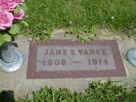 VANCE, JANE E. - Cerro Gordo County, Iowa | JANE E. VANCE