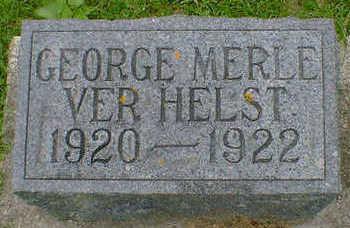 VER HELST, GEORGE MERLE - Cerro Gordo County, Iowa   GEORGE MERLE VER HELST