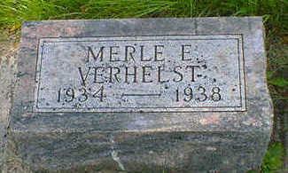 VERHELST, MERLE E. - Cerro Gordo County, Iowa | MERLE E. VERHELST
