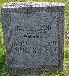 WALLER, HAZEL JANE - Cerro Gordo County, Iowa | HAZEL JANE WALLER