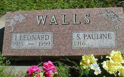 WALLS, I. LEONARD - Cerro Gordo County, Iowa   I. LEONARD WALLS