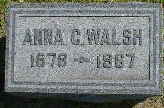 WALSH, ANNA C. - Cerro Gordo County, Iowa   ANNA C. WALSH