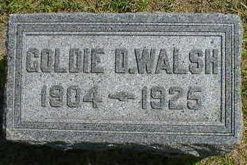 WALSH, GOLDIE D. - Cerro Gordo County, Iowa | GOLDIE D. WALSH