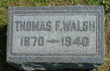 WALSH, THOMAS F. - Cerro Gordo County, Iowa | THOMAS F. WALSH