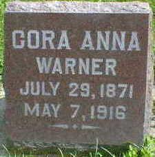 WARNER, CORA ANNA - Cerro Gordo County, Iowa | CORA ANNA WARNER
