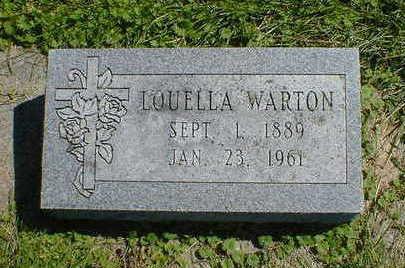 WARTON, LOUELLA - Cerro Gordo County, Iowa | LOUELLA WARTON