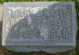 WATTS, MARY J. - Cerro Gordo County, Iowa | MARY J. WATTS