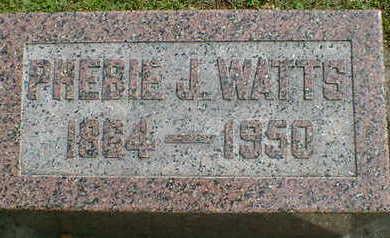 WATTS, PHEBIE J. - Cerro Gordo County, Iowa | PHEBIE J. WATTS