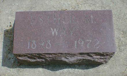 WAY, ESTHER M. - Cerro Gordo County, Iowa   ESTHER M. WAY
